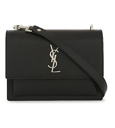 SAINT LAURENT Monogram Sunset Medium Leather Cross-Body Bag. #saintlaurent #bags #shoulder bags #leather #