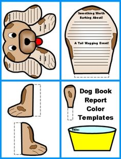 Download these FREE dog book report project templates!  These finished dog shaped projects measure 20 x 12 inches and are available for FREE on Unique Teaching Resources.