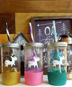 reusable coffee cup unicorn