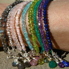 """The Stackables 30"" Single Strand Gemstone Bracelets to MIx and Match-gorgeous!!"