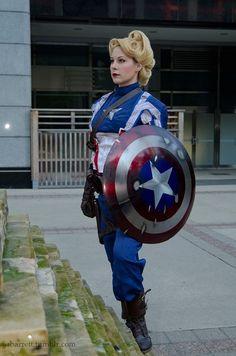 Captain America gender bend cosplay