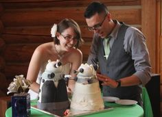 There's no greater love in time and space than Whovians in love! Click here for more pictures of the Dalek cakes: http://whengeekswed.com/blog1/2012/09/05/bride-and-groom-dalek-wedding-cakes/#