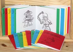 Cute Mini Lego Coloring Book Party Favors, free download of all the pages and cover.