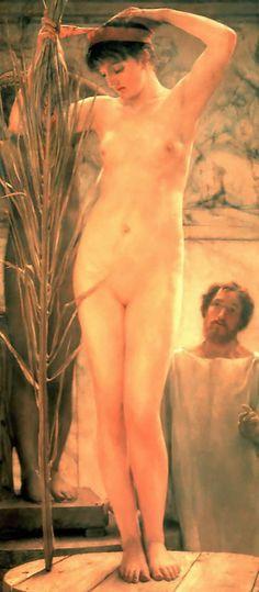 A Sculptor's Model by Sir Lawrence Alma-Tadema #art