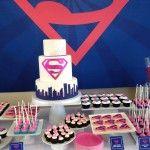 pink superhero party