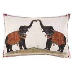 A fantastic Robshaw elephant throw pillow.
