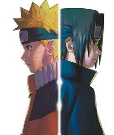 Naruto Uzumaki and Sasuke Uchiha Naruto Vs Sasuke, Anime Naruto, Naruto Drawings, Naruto Sasuke Sakura, Naruto Shippuden Anime, Itachi Uchiha, Aot Anime, Minato Kushina, Photo Naruto