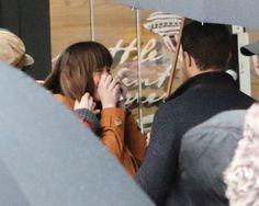 Fifty Shades Updates: HQ PHOTOS: Dakota Johnson and Jamie Dornan shoot a scene for Fifty Shades Darker