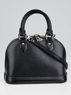 57a76ef3aee Louis Vuitton Black Epi Leather Alma BB Bag - Yoogi's Closet Small Wallet,  Authentic Louis