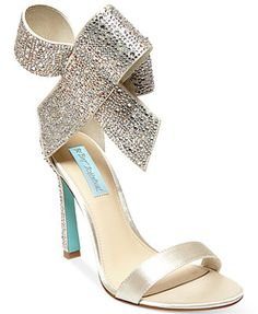 Blue by Betsey Johnson Up Do Evening Sandals {OMG I wanted a wedge, but I LOVE this shoe}