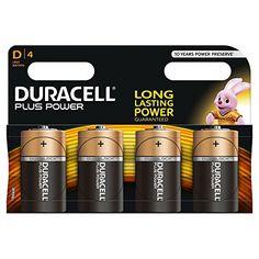 Duracell – Pile Alcaline – Dx4 Plus Power (LR20): Piles alcalines C Duracell Plus Power - énergie longue durée garantie Les piles alcalines…