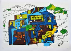 B.V.Doshi – Crimson Art gallery Indian Contemporary Art, Indian Architecture, Paper Dimensions, Limited Edition Prints, Paper Size, Asian Art, Art Gallery, Artist, Artwork