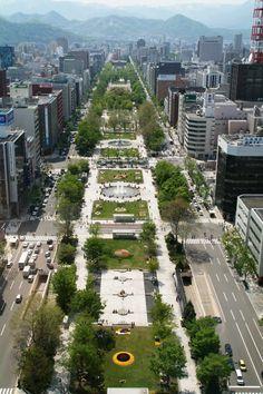 大通公園(北海道・札幌) Odori Park, Sapporo, Hokkaido, Japan