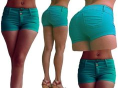 fashion short    the we have short in mint green, lilac, black, white, red and wine , has  two buttons in the  part of enfrende, they are silver color, has two bags in the back, one in  right and the other to the left, the we have of the   size 12 to 34 and cost only 130 weights