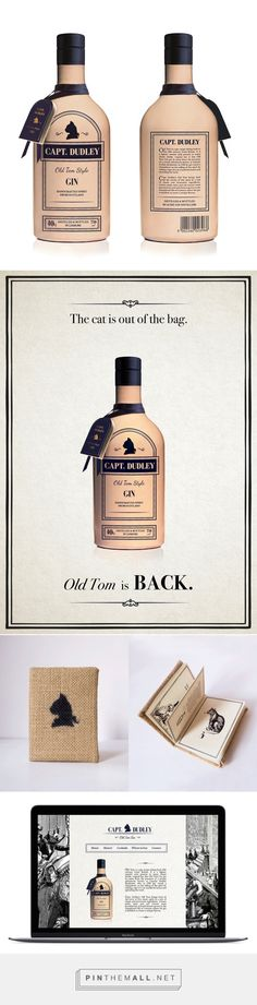 Capt. Dudley Old Tom Gin on Behance by Laila Gebhard curated by Packaging Diva PD. Rebranded gin packaging.