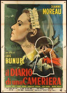 DIARIO DE UNA CAMARERA (1964) ~  Jeanne Moreau, Michel Piccoli, Georges Géret. Director: Luis Buñuel. IMDB: 7.6 | France-Italy | Criterion + (CR) _________________________ https://en.wikipedia.org/wiki/Diary_of_a_Chambermaid_%281964_film%29 https://www.criterion.com/current/posts/116-diary-of-a-chambermaid http://www.slantmagazine.com/film/review/the-diary-of-a-chambermaid