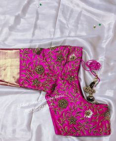 Greatest detailing extracted from the saree.. visit our page for more details Pink Petals, Saree, House Design, Detail, Fashion, Moda, Rose Petals, Fashion Styles, Sari