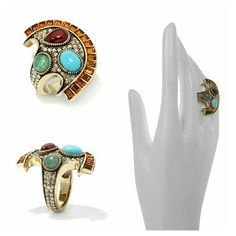 Heidi Daus Exotic Harmony Multigemstone Ring