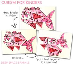 Cool way to teach cubism to young children.