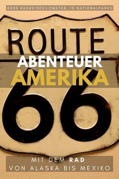 Cycling America - von Alaska bis Mexiko Ein ultimatives Radreiseabenteuer über die wohl schönsten Straßen Nordamerikas.   8000 Radreisekilometer, 10 Nationalparks  Eine Foto- und Filmshow von und mit Chris Buchleitner. Nationalparks, Roadtrip, Alaska, Company Logo, North America, Mexico, Adventure, Viajes