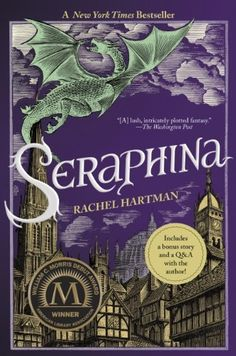 Seraphina by Rachel Hartman, In a (medieval?) time, in a royal court, there is a musician who has to hide her true identity.  Dragons are attempting to integrate into human society taking the form of humans, albeit not always successfully. Seraphina struggles with her own family secrets while trying to prevent Dragons and humans from all-out war.  Interesting premise if not a little predictable.  There is some romance but not an overwhelming love story.  Good story, but not mind blowing.