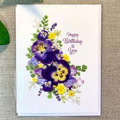 Instagram Pressed Flower Art, Happy Birthday, Flowers, Instagram, Happy Brithday, Urari La Multi Ani, Happy Birthday Funny, Royal Icing Flowers, Flower
