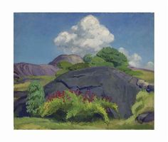 White Cloud and Rock by John French Sloan