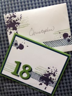 18th birthday card for a man using stampin up supplies check kathy alt independent stampin up 18th birthday card bookmarktalkfo Images