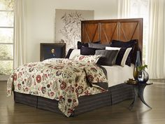 Avalon Woven Florals and Paisley Vines in Black, Cream, with Pops of Red Duvet Sets by Mystic Home Collections