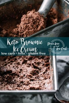 keto ice cream Rich and delicious, this Keto Brownie Ice Cream is the perfect summer treat. It's so good that you won't even know it is low carb and gluten free Brownies Cétoniques, Gluten Free Brownies, Sugar Free Ice Cream, Low Carb Ice Cream, Brownie Ice Cream Recipes, Avocado Ice Cream, Low Carb Chocolate, Low Carb Desserts, Calories