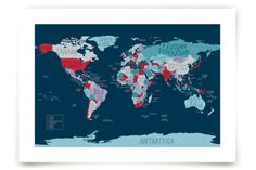 All The Countries Of The World by Anita Kingsley at minted.com