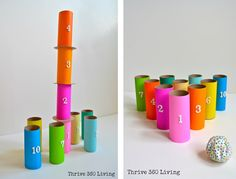 Toilet paper roll fun babies colorful fun baby crafts crafty baby ideas kid ideas toiler paper roll
