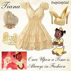 Disney Style: Tiana created by trulygirlygirl Disney Outfits, Disney Character Outfits, Disney Princess Outfits, Disney Dress Up, Character Inspired Outfits, Disney Costumes, Disney Girls, Cute Outfits, Tiana Disney