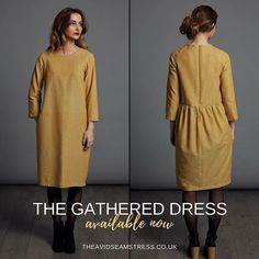 Introducing The Gathered Dress - Adult. From the school run to the office, The Gathered Dress will help you to feel stylishly smart yet comfortable. A charming gathered waist at the back makes for an interesting style line. For all the details on our gorgeous new pattern head to www.theavidseamstress.co.uk Look out for our gorgeous Gathered Dress kits arriving today. #gathereddress #thegathereddress #dressmaking #newsewingpattern #patternrelease #sew #sewing