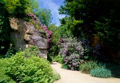 View of the quarry garden at Belsay Castle