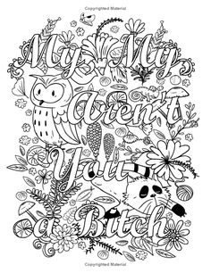The 58 Best Swear Words Coloring Pages Images On Pinterest
