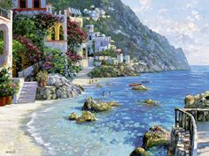Portofino Day at gthe Beach by Howard Behrens1