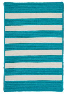 Colonial Mills Stripe It Turquoise Indoor/Outdoor Area Rug & Reviews | Wayfair