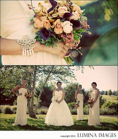 our wedding 10.02.2010 bridesmaid autumn fall bracelet statement flowers bouquet group photo greenhill park worcester bridal party champagne dress davids bridal
