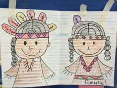 Directed Drawings: Native American boy and girl