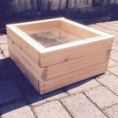 Single Cedar Planter Box Lined Stackable