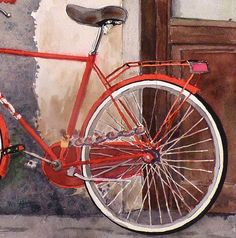 Bike Painting Print of my Watercolor by WatercolorByMuren on Etsy