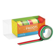Froot Washi Tape, Sticky Tape Sets - Set of 5 Coloured sticky tape