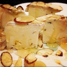 Brie Cheese, almond and honey