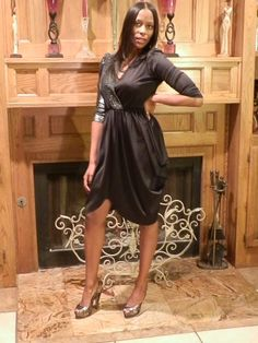 GLENROB Silver and Black Dress  AnnDavisDesigner on Etsy.com