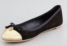 Tory Burch   Chelsea Cap-Toe Ballet Flat #maloufs www.maloufs.com