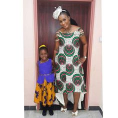 """Pretty Miss Mandy and her pretty Mum slaying in outfits by @abada_fashion . #proudlynigerian  #fashionistas #ankaralover #abadamodels #fashionforkids #fashionforchurch #ankarastyles. @abada_kids """"Your smile can save a distressed soul, gladden a sad heart, or heal; a broken spirit."""" Have a blessed day"""
