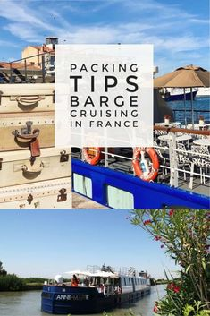 Packing Tips for Barge Cruising in France French barge cruise packing tips. Packing Tips For Vacation, Vacation Deals, Travel Deals, Travel Guides, Packing Lists, Travel Packing, Europe Packing, Traveling Europe, Packing Ideas