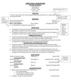Skills-based resume | Rez | Pinterest | Resume and The o'jays