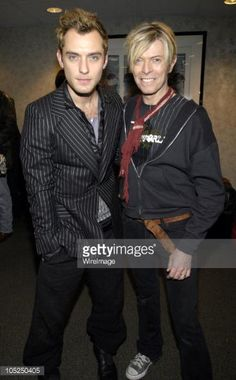 Jude Law and David Bowie